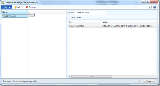 Open source Exchange rate provider on Codeplex [AX 2012
