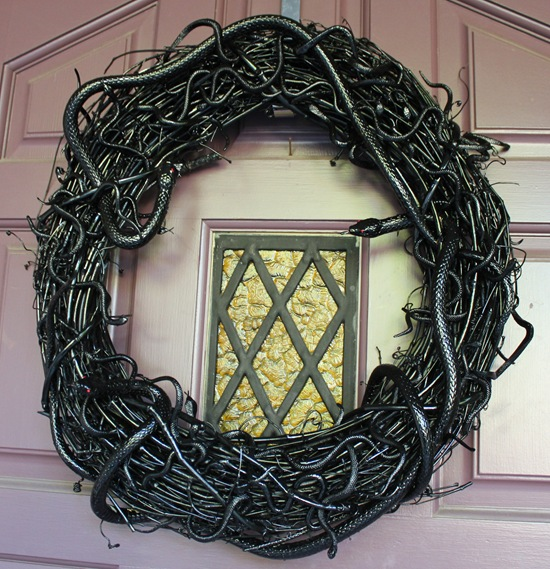 Image result for HALLOWEEN SNAKE WREATH