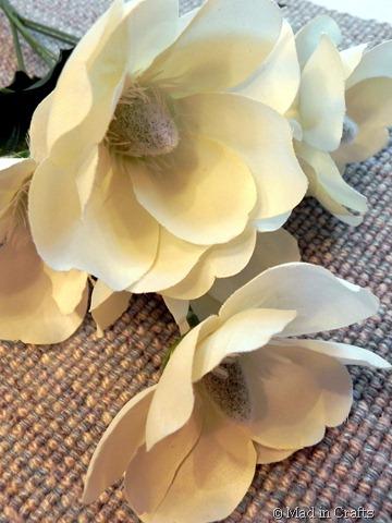 dollar store magnolias