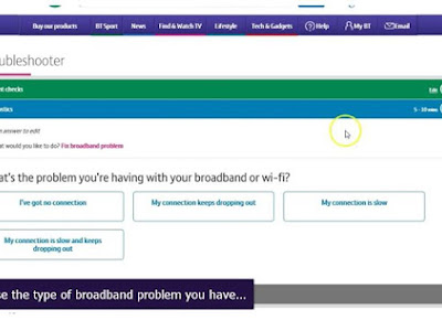 Log in to our online troubleshooter to diagnose and fix any problems