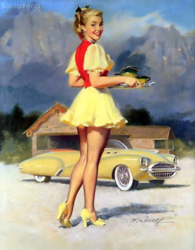 Bill Medcalf's 1950 advertisement for KellySpringfield Celebrity Tires more at