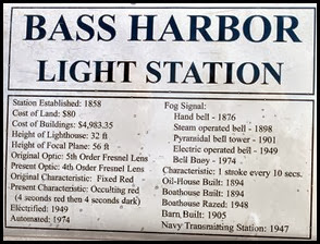 04c - Bass Harbor Rt 102 -Bass Harbor Head Lighthouse Information Sign
