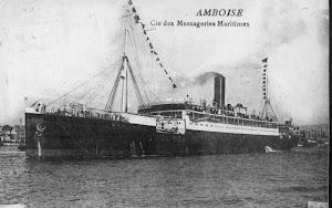 El FURST BISMARCK fue entregado como presa de guerra a Francia y rebautizado AMBOISE. Colección Arturo Paniagua