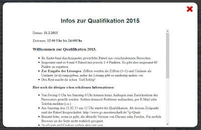 Screenshot Infos zur Qualifikation