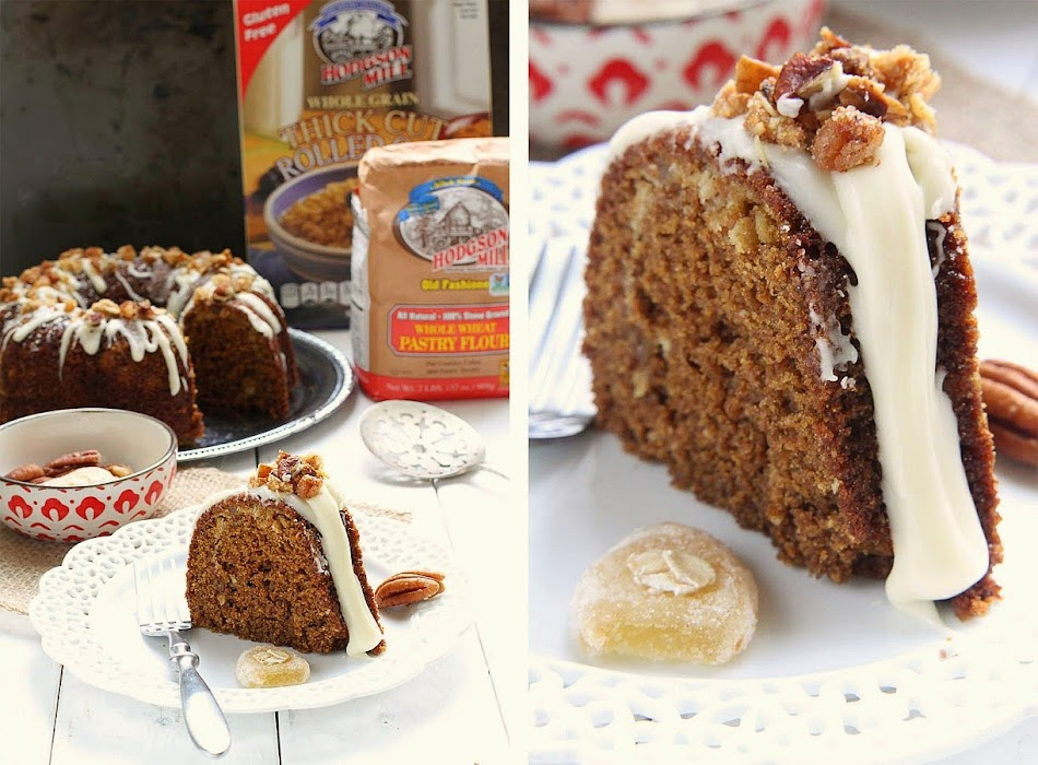 Maple Glazed Gingerbread Bundt Cake with Oat Streusel with @HodgsonMill #sponsored ---- Recipe by @LifeMadeSweeter.jpg