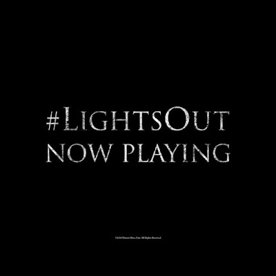 You were right to be afraid of the dark LightsOut in theaters now Grab your tickets here: