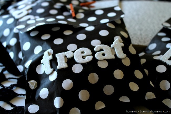 Black, White & Glitter Halloween Treat Bags via homework - carolynshomework (11)