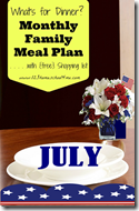 Meal Planner - July
