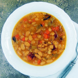 Hearty Ham and Bean Soup.