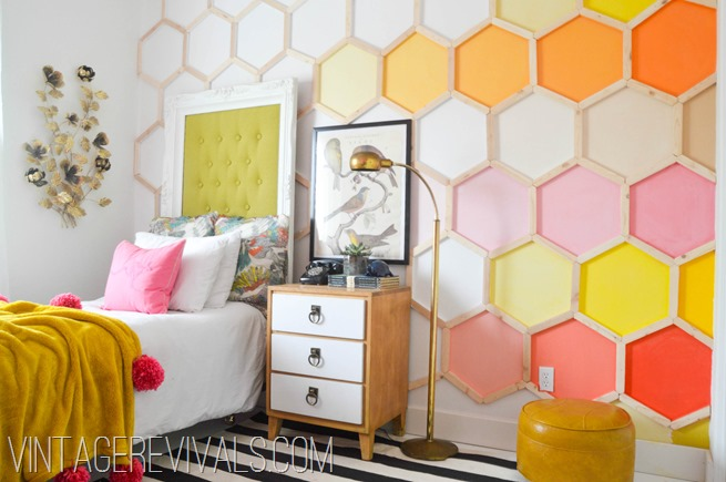 Honeycomb Hexagon Wall @ Vintage Revivals-2