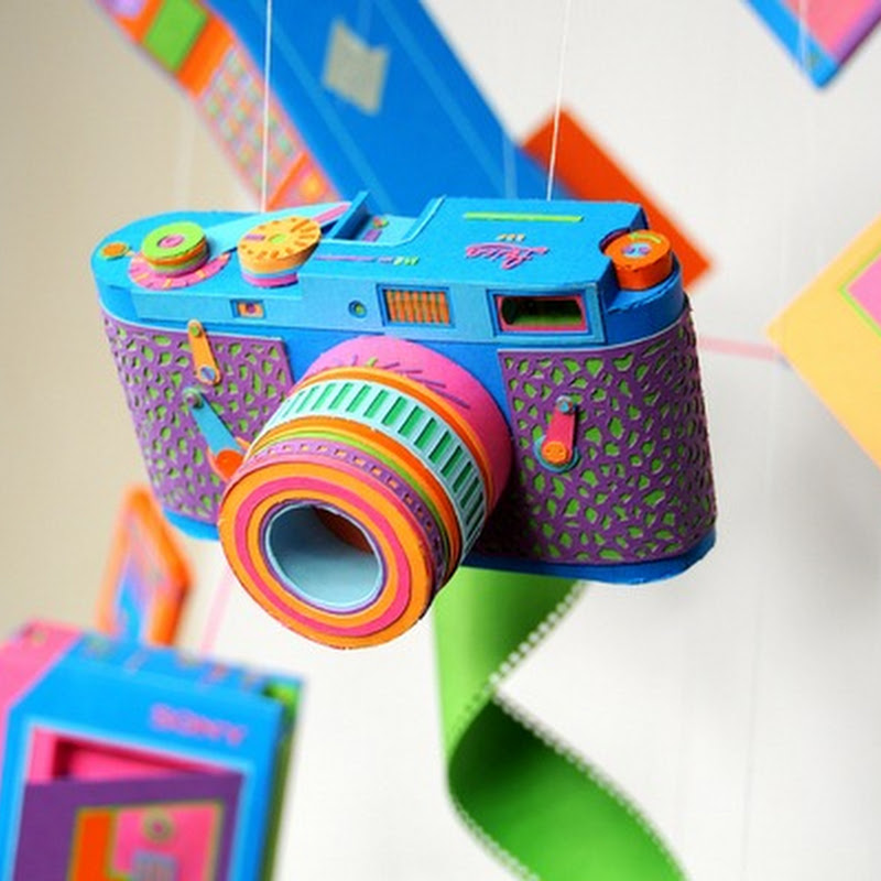 Amazingly Colorful Retro Gadgets Made of Paper