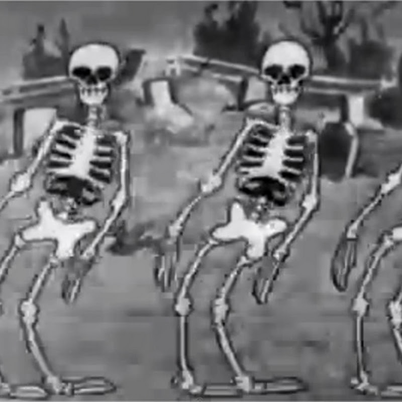 The skeleton dance, un corto animado de Walt Disney de miedo
