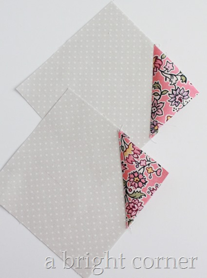Bowtie quilt block tutorial