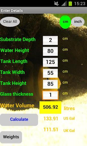 Aquarium Volume Weight