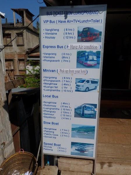 Orar autobuze Luang Prabang