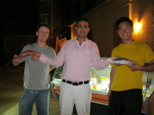 Our dinner - caught 2 hours previously