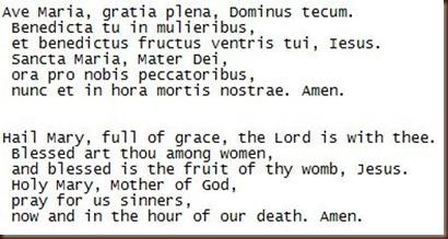 Ave Maria Latin Prayer 49