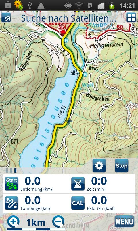 Outdoor und Wander- Navigation - screenshot