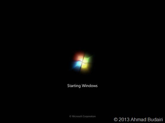 Tampilan Splash Screen Windows 7