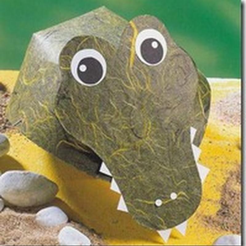 Máscara de cocodrilo con moldes