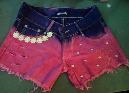 Ideias para customizar short jeans