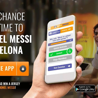 Download the Play Messi App and start participating for a chance to