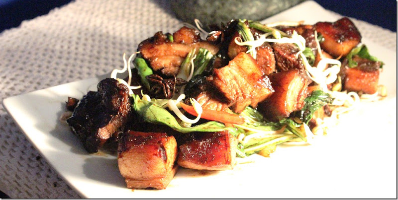 Triple cooked soy chilly pork