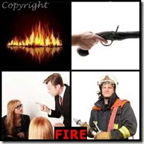 FIRE- 4 Pics 1 Word Answers 3 Letters