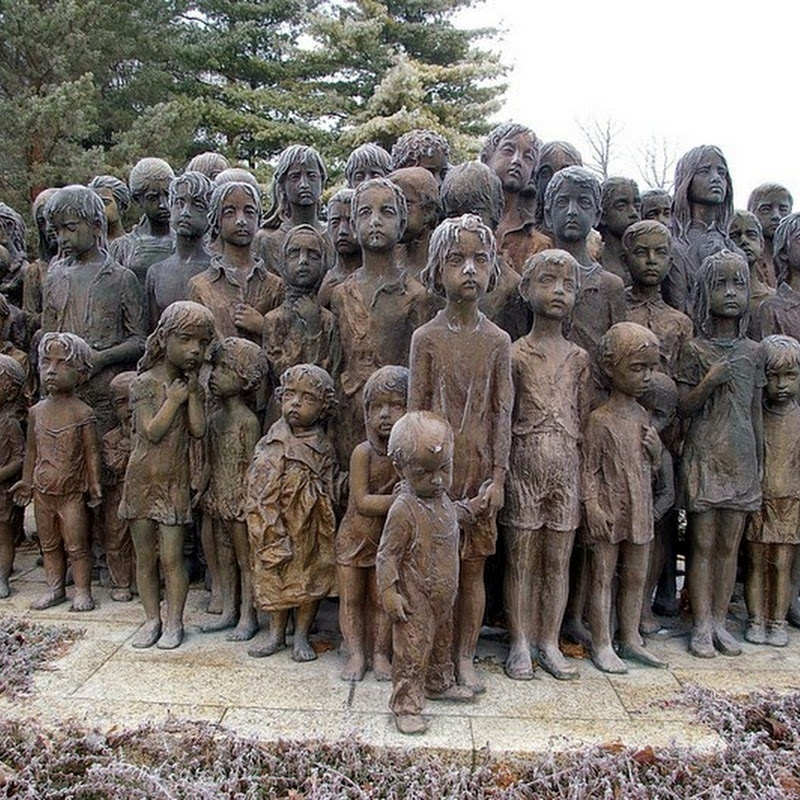 The Children's War Victims Memorial in Lidice