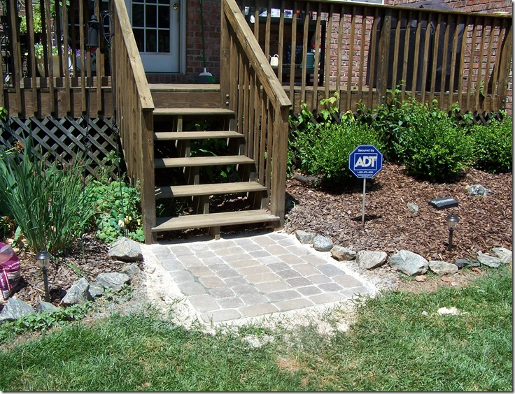 Pickles And Cheese Diy Stone Patio Landing