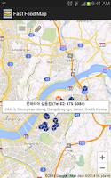 Screenshot of Fast Food Map