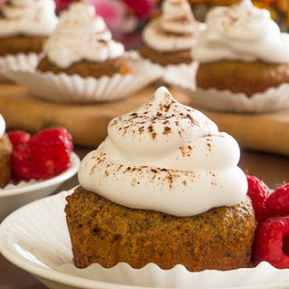 Ginger Spice Cupcakes with Whipped Cream Frosting.