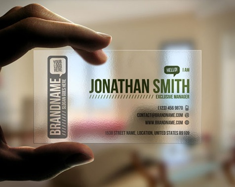 Transparent-Business-Card
