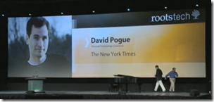 David Pogue是一个rootstech主题演讲者