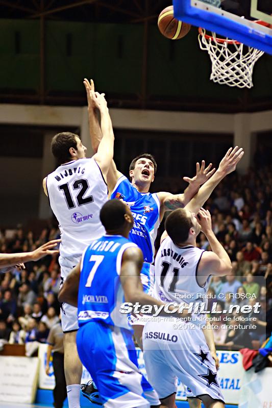 Virgil Stanescu / BC Mures - U Mobitelco, 19 aprilie 2012