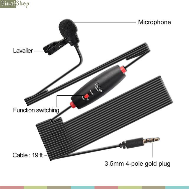Lensgo LYM-DM1 - Micro Lavalier Cài Áo Có Dây