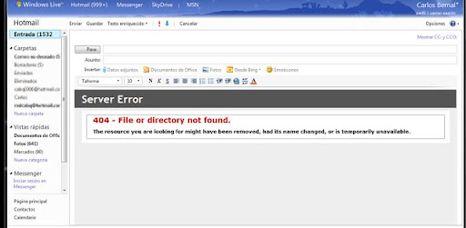 Hotmail 404