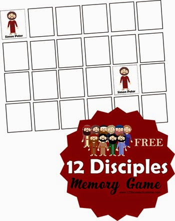 12 Disciples Memory Game