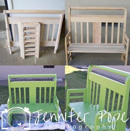 toddler bed bench photo prop