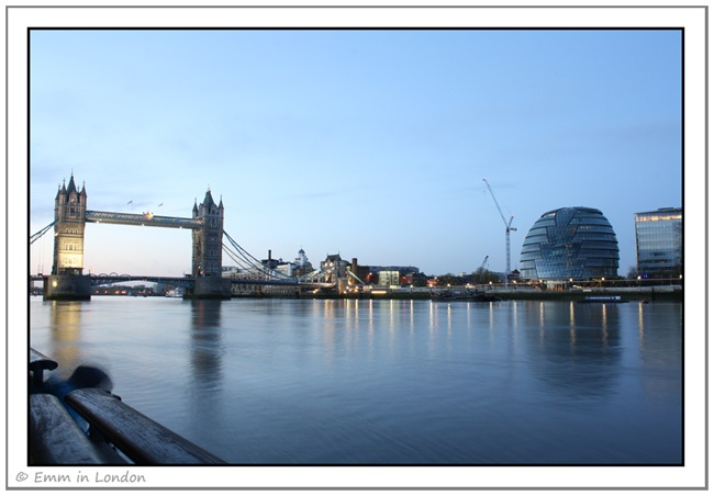 Tower Bridge and City Hall at Dawn