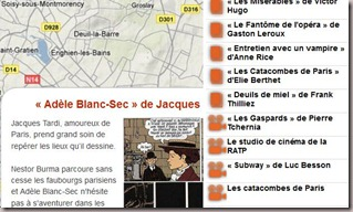 Carte des films dont un passage se droule en sous-sol  Paris