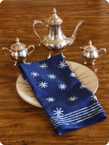 blue star napkin