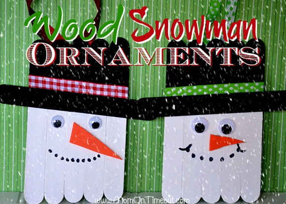 craft stick snowmen ornaments