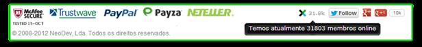 Redes Sociais e Parceiros do Neobux