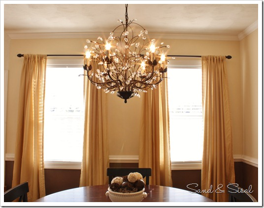 lighting height guide - sand and sisal