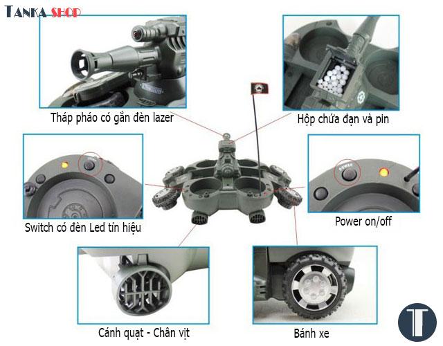 Xe tăng điều khiển từ xa RC AMPHIBIOUS TANK