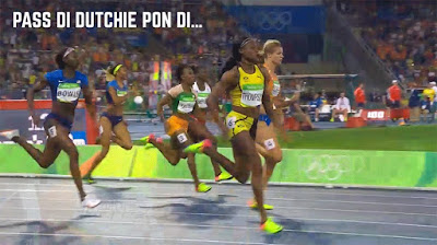 Elaine Thompson pass di Dutchie pon di…