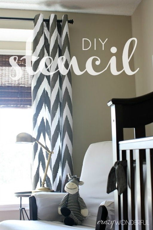 diy stenciled curtains