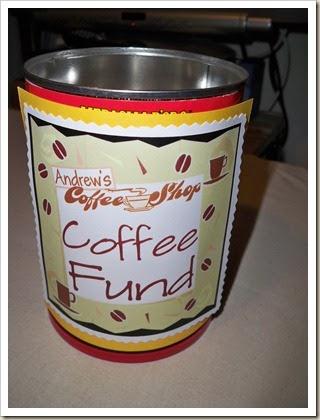 Hello Kirsti Coffee Fund Jar For Andrew