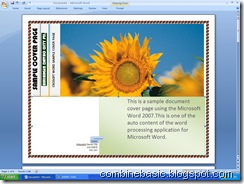 Microsoft Word 2007 Cover Page